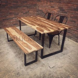 Rosewood Dining table U legs   lucky-furniture-handicrafts