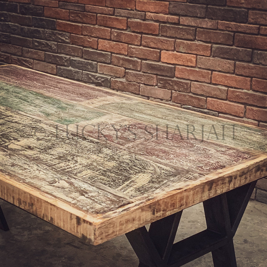 Recycle Design Y Legs Dining table   lucky-furniture-handicrafts