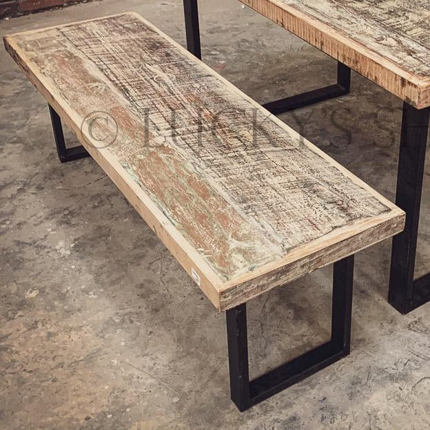 Recycle Design U Legs Bench   lucky-furniture-handicrafts.