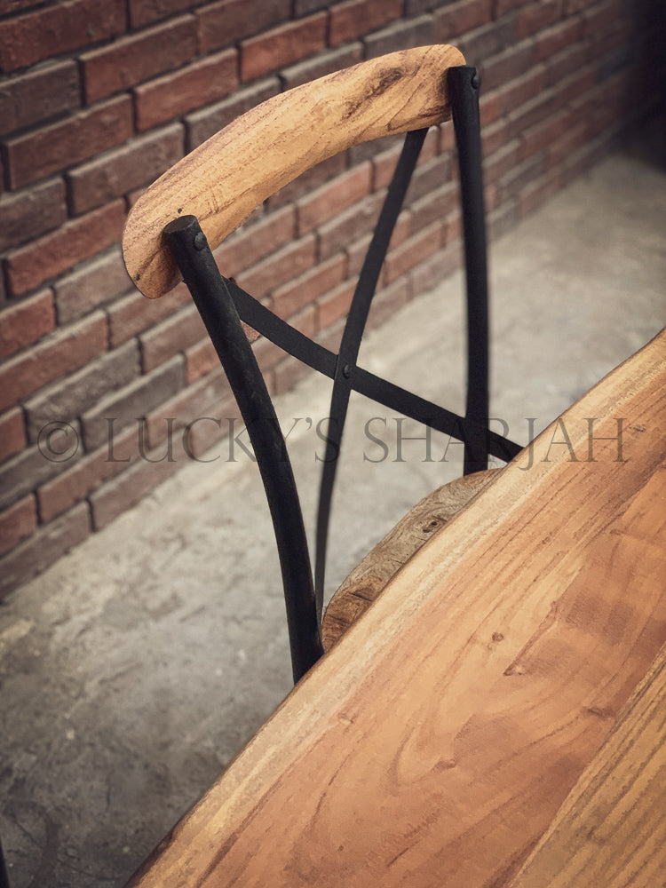 Live Edge Dining Table X Legs   lucky-furniture-handicrafts.