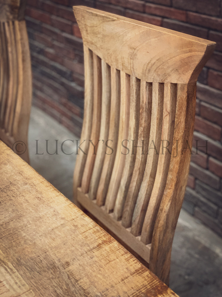 Mango Wooden dining table with square legs   lucky-furniture-handicrafts.