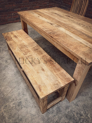 Mango Wooden bench square legs   lucky-furniture-handicrafts.