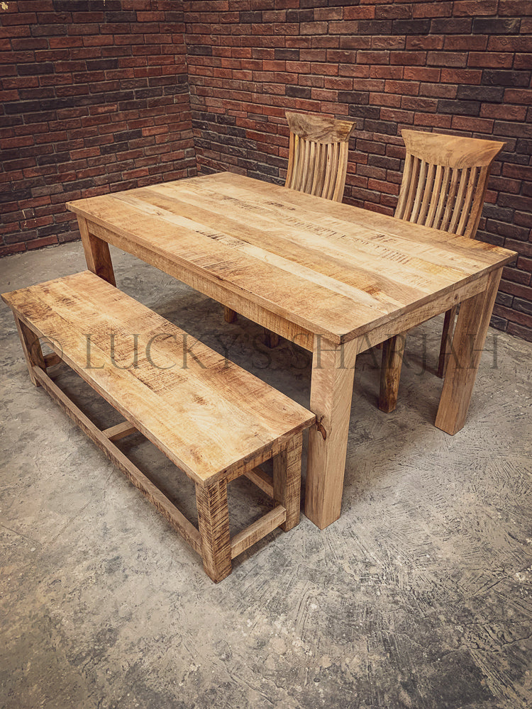 Mango Wooden dining table with square legs   lucky-furniture-handicrafts
