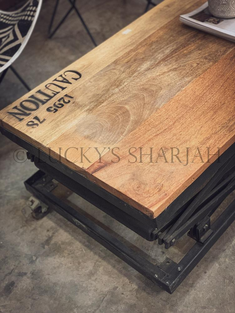 Adjustable industrial table   lucky-furniture-handicrafts.