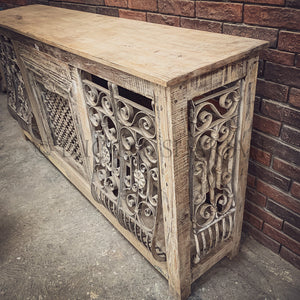 Vintage Jaali Console Sideboard   lucky-furniture-handicrafts