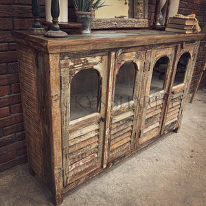 Recycle Design Shutter & Glass sideboard   lucky-furniture-handicrafts.
