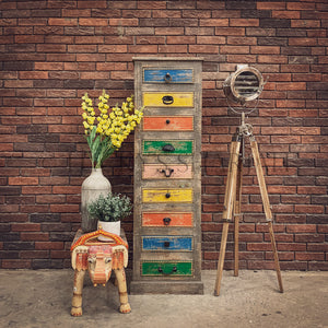 Multi Color Tall Drawchest   lucky-furniture-handicrafts.