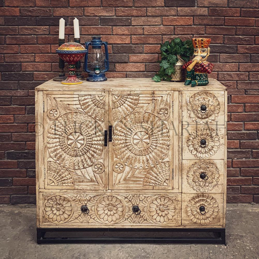Carved Sideboard Drawchest   lucky-furniture-handicrafts