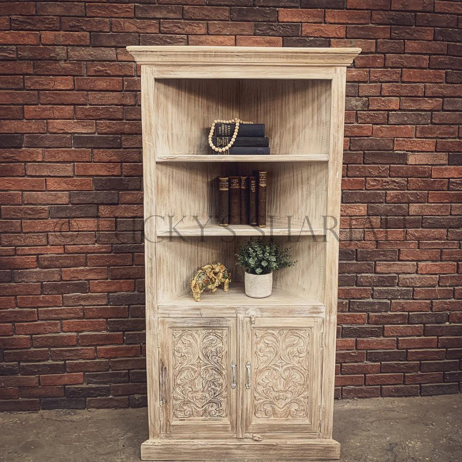 Carved Corner Bookshelf with cabinet6   lucky-furniture-handicrafts.