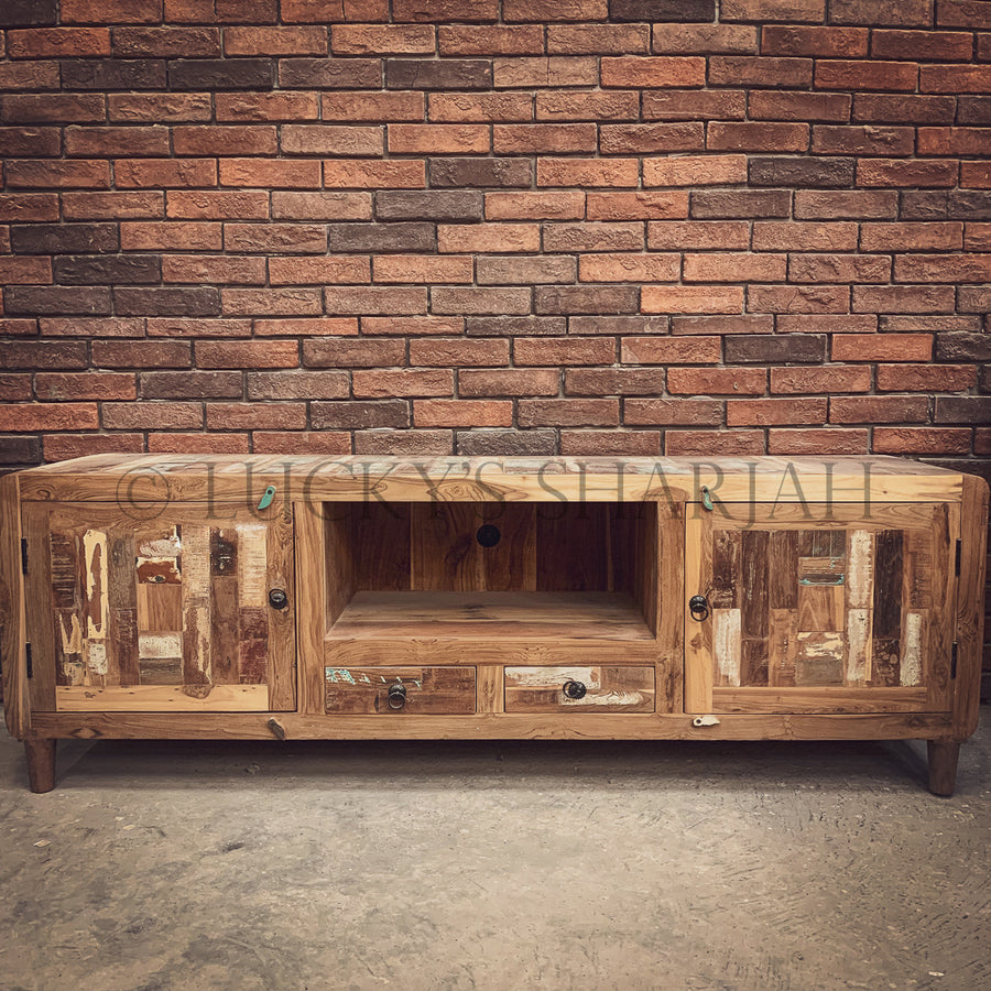 Recycle Teak wood Tv stand   lucky-furniture-handicrafts.