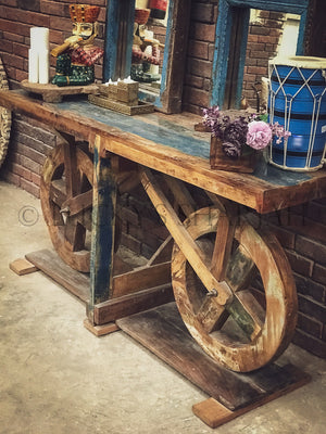 Recycle design bicycle console   lucky-furniture-handicrafts