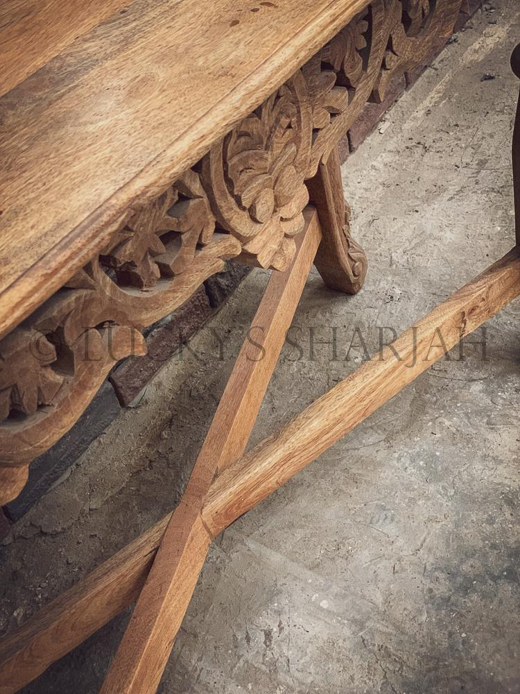 Carved console set   lucky-furniture-handicrafts.