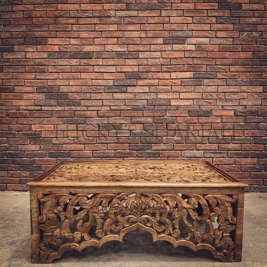 Heavy Carved Coffee table   lucky-furniture-handicrafts.