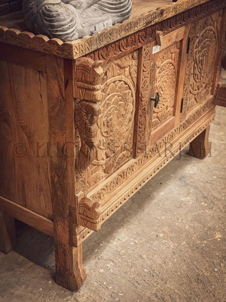 Carved dowry chest Mango wood   lucky-furniture-handicrafts