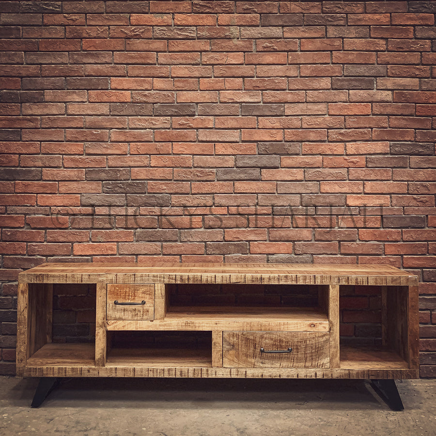 Staggered Sectional full wood tv stand   lucky-furniture-handicrafts.
