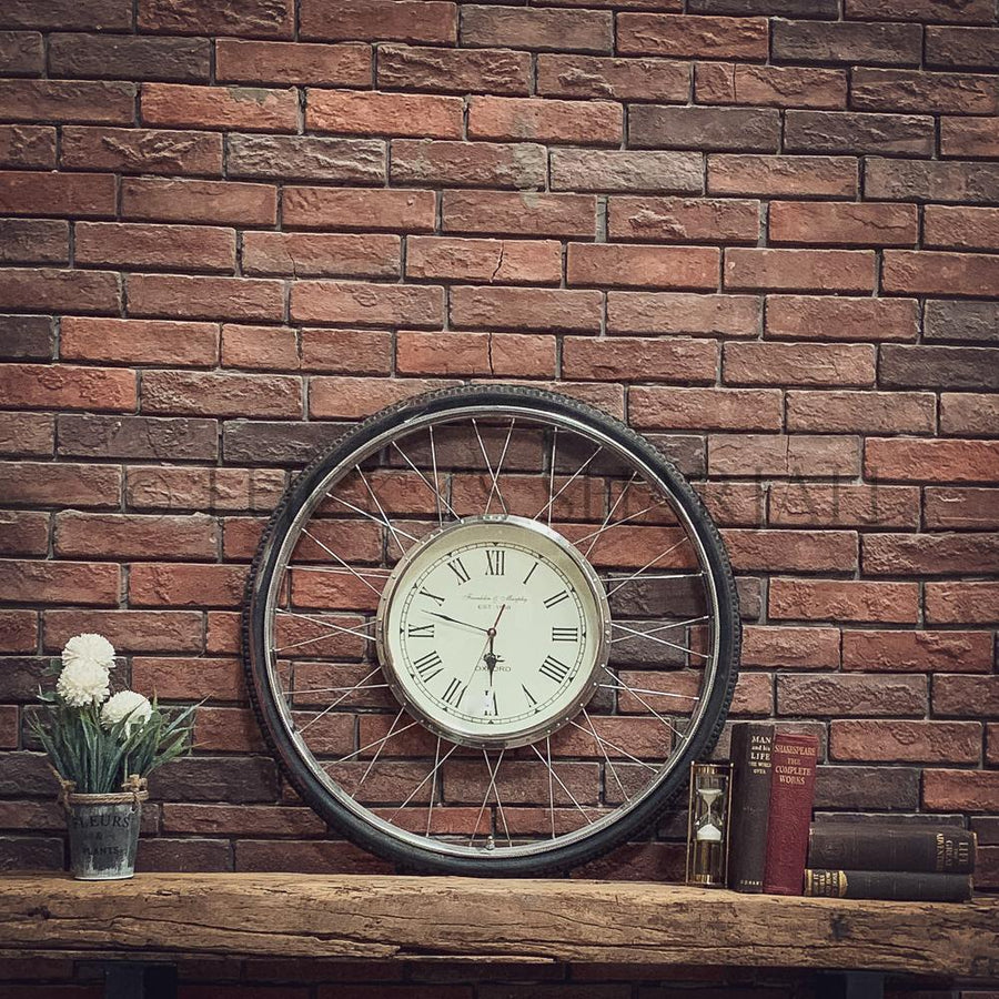 Bicycle Wheel Clock   lucky-furniture-handicrafts.