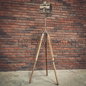 Natural Mango wood Tripod Lamp   lucky-furniture-handicrafts