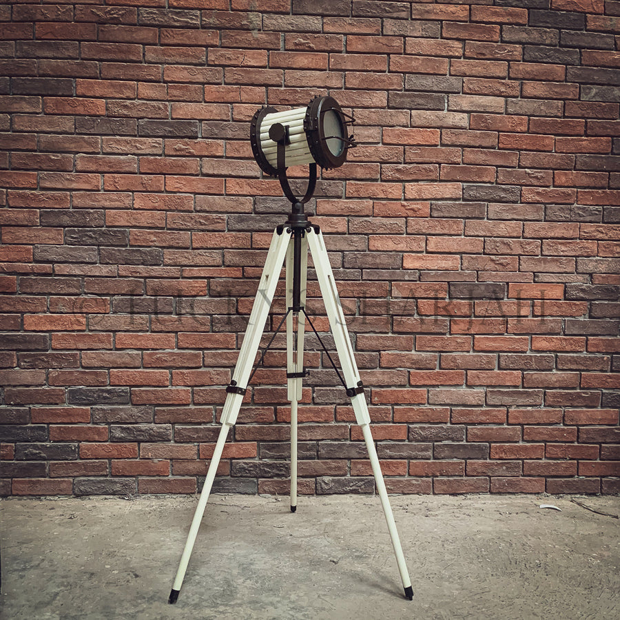 White Industrial Tripod Lamp   lucky-furniture-handicrafts.