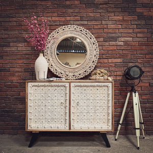 Classic Industrial Sideboard 2 door   lucky-furniture-handicrafts.
