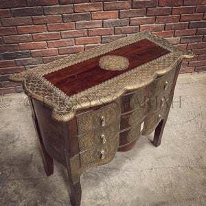 Brass inlay Drawchest   lucky-furniture-handicrafts