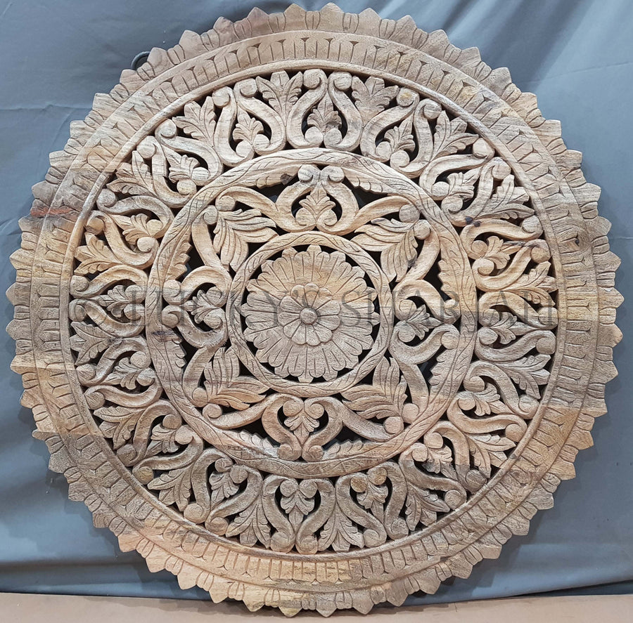 Round Carved wall panel   lucky-furniture-handicrafts.