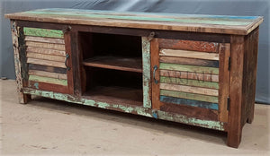 Recycle Shutter Design Tv Stand   lucky-furniture-handicrafts.