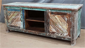 Recycle design 2 door Tv Stand   lucky-furniture-handicrafts.