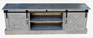 Barn Style Sliding door tv stand   lucky-furniture-handicrafts.