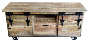 Barn Door TV Stand Small  simple lucky-furniture-handicrafts.