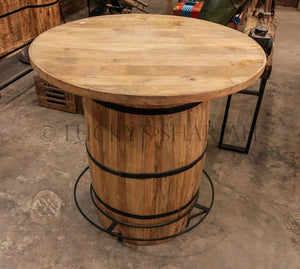 Barrel Bar Counter without storage  simple lucky-furniture-handicrafts