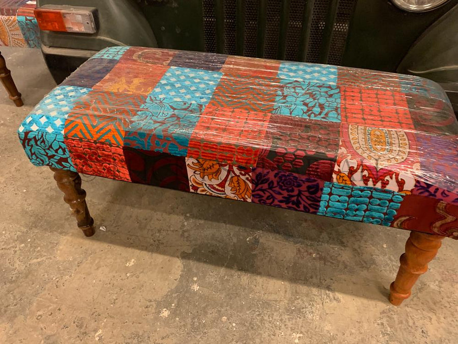Bohemian Patchwork Stool  simple lucky-furniture-handicrafts