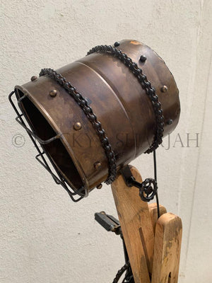 Adjustable Wooden Industrial Lamp  simple lucky-furniture-handicrafts