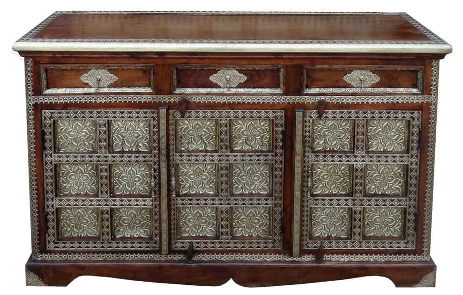 3 Draw Brass Sideboard  simple lucky-furniture-handicrafts.