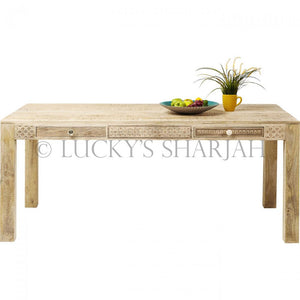 4 Draw Carved Table  variation lucky-furniture-handicrafts