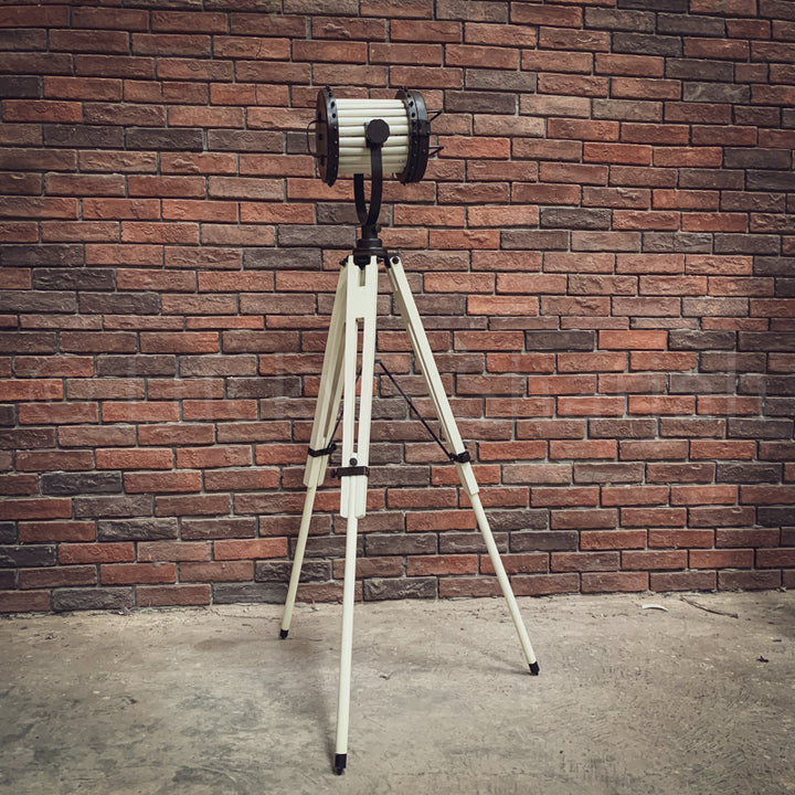 White Industrial Tripod Lamp  simple lucky-furniture-handicrafts.