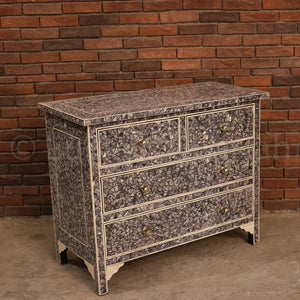 Mosaic Bone Inlay Draw Chest  simple lucky-furniture-handicrafts