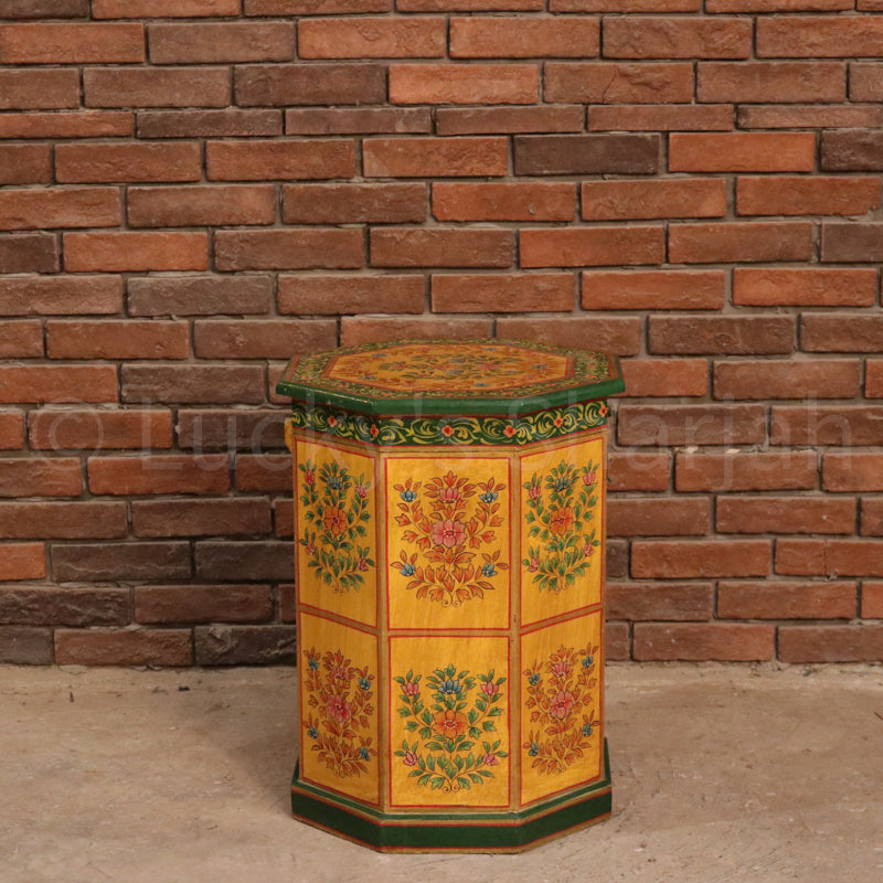 Traditional Motif Hand Painted Trunk  simple lucky-furniture-handicrafts.