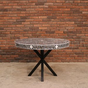 Mother of Pearl Floral Inlay Dining Table  simple lucky-furniture-handicrafts