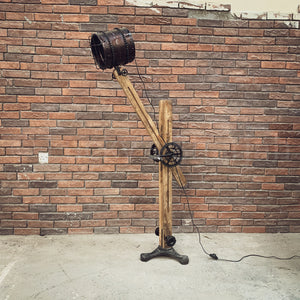 Versatile Industrial Tripod Floor Lamp  simple lucky-furniture-handicrafts