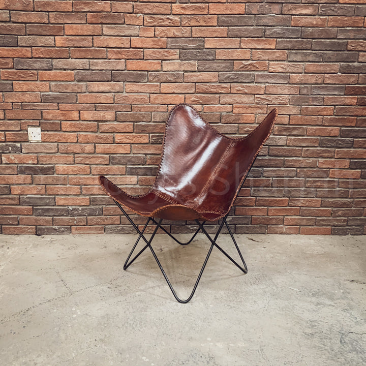 Leather Butterfly Chair  simple lucky-furniture-handicrafts.