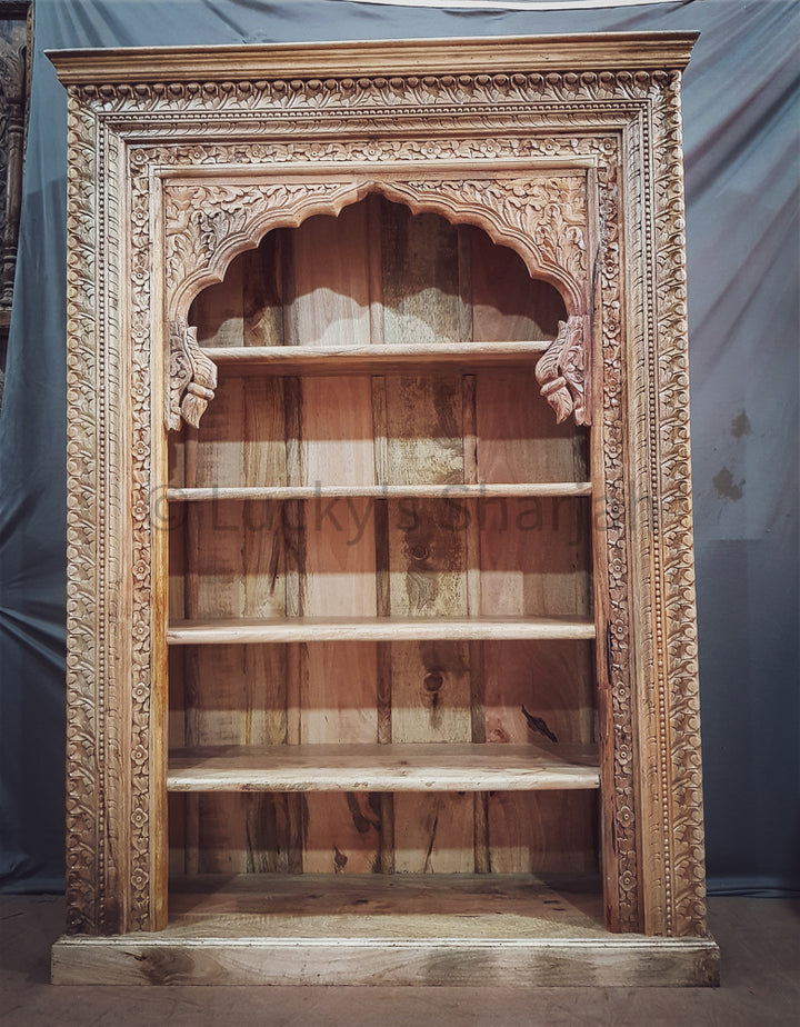 Grand Mehrab Carved Bookshelf   lucky-furniture-handicrafts.