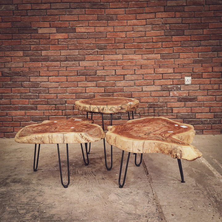 Live Edge Log tables   lucky-furniture-handicrafts.