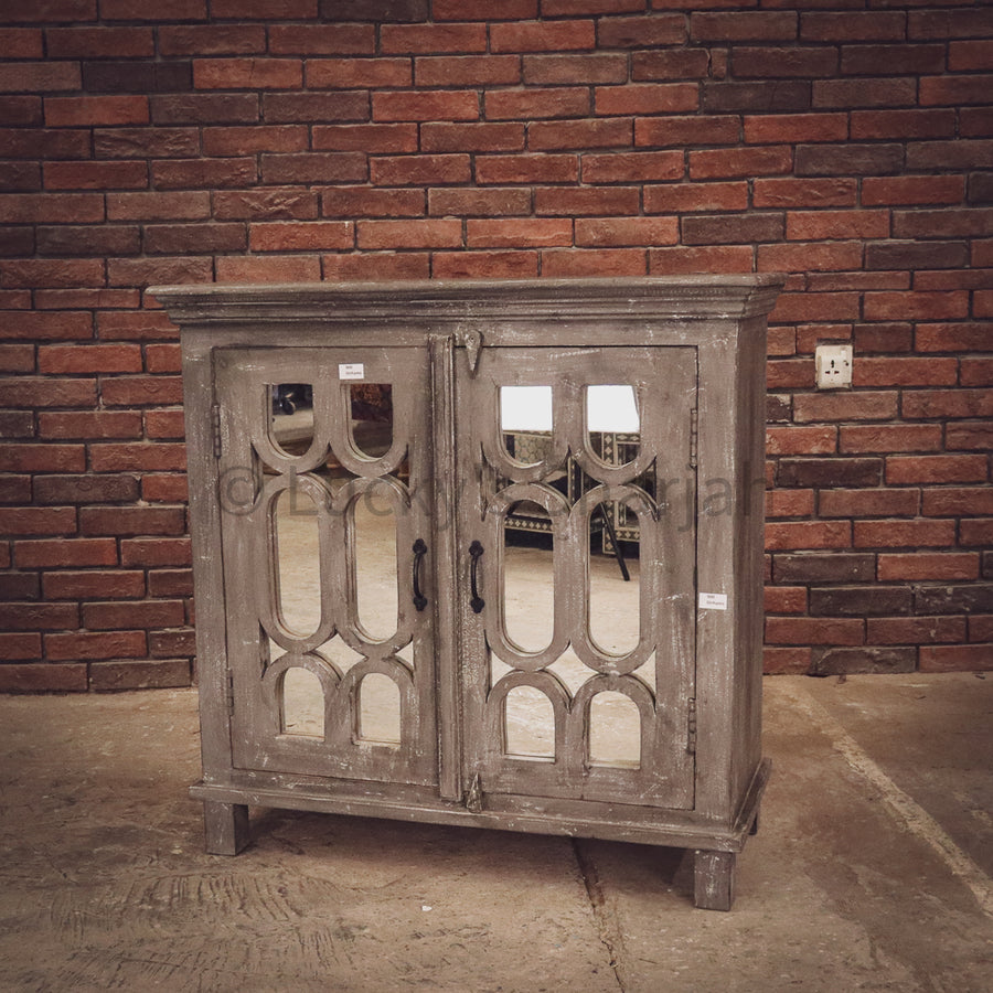 Grey Wash Geometric Sideboard   lucky-furniture-handicrafts.