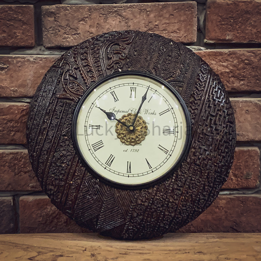 Batik Print wall clock CK1   lucky-furniture-handicrafts.