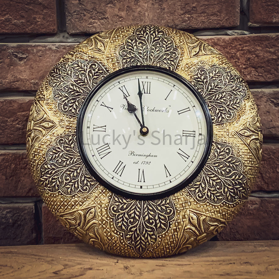 Brass inlay wall clock CK1