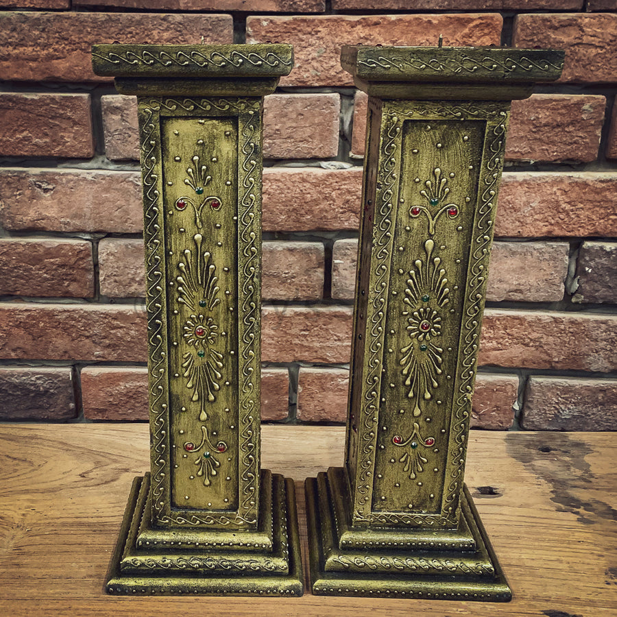 Brass candle stand   lucky-furniture-handicrafts.