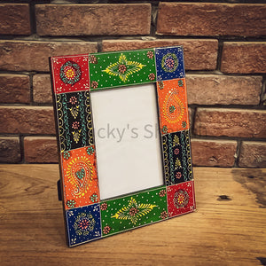 Handpainted photo frame   lucky-furniture-handicrafts.