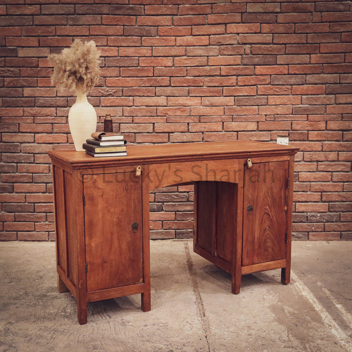 Original Vintage Teak Collectors Desk   lucky-furniture-handicrafts.