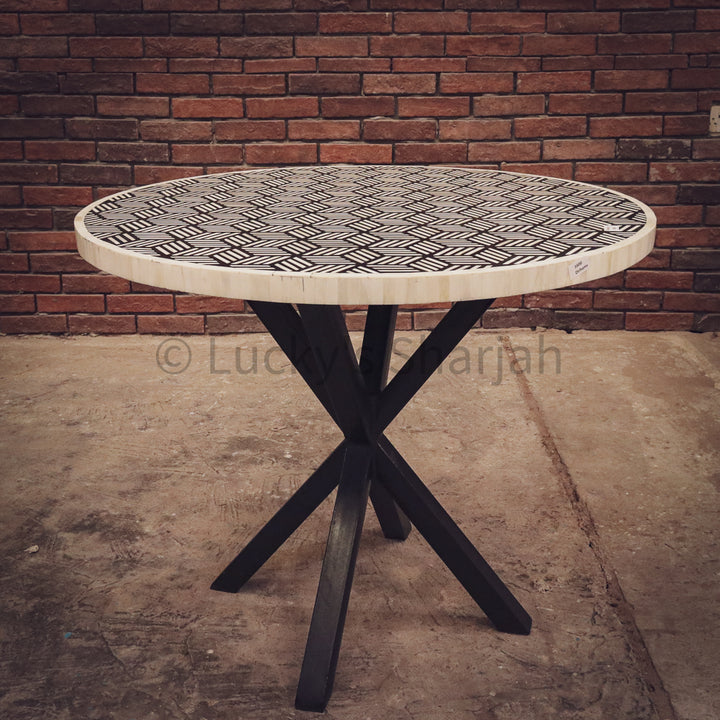 Bone Inlay Geometric Table   lucky-furniture-handicrafts.