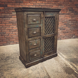 Vintage Lattice Patti Cabinet